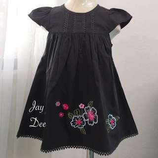 ❤️Cotton Dress (Floral Dark Grey)❤️