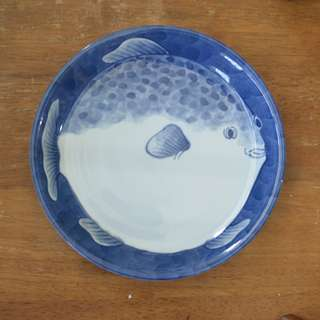 Japan Handpainted Fish Plate, not signed.