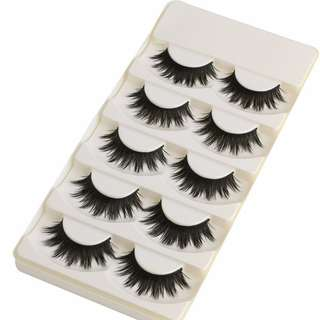 5pcs thick dramatic false eyelashes