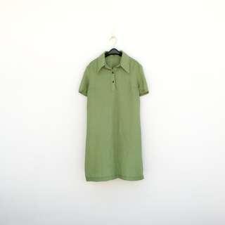🚚 二手 綠色 洋裝 明太子 604