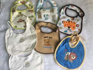 7 pcs baby bibs take all for 100 pesos only