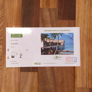 Lexis PD Premium Tower Seaview Stay Voucher 2018