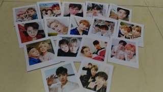 Monsta x Polaroid selfies + wooden clips set