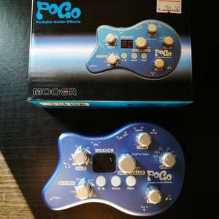 Mooer Pogo Portable Guitar effects.