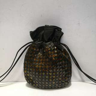 Authentic Cosci Vintage Woven Leather Bag