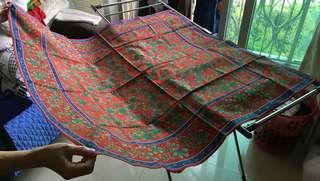 日本九州有田源右衛門窯產紅藍枱布 Japan gen-emon kiln red blue table cloth
