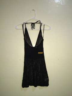 DKNY Black knit halter