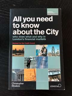 All you need to know about the City - who does what & why in London's financial markets