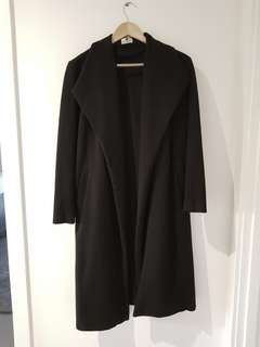 Long black coat size 6