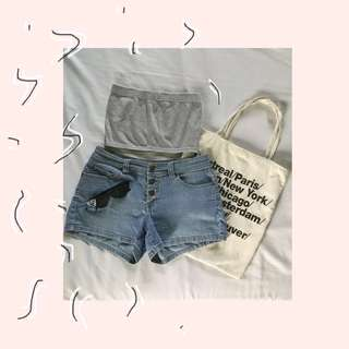 Button down Denim Shorts