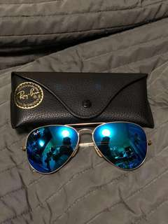 Ray Ban 太陽眼鏡-反光藍色