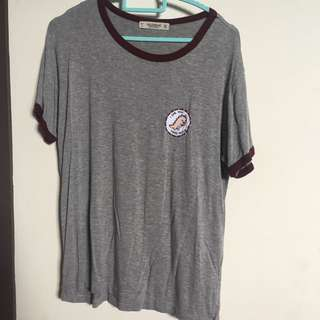Pull and Bear Patch Ringer Tshirt