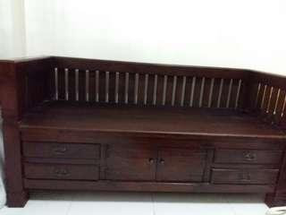 Antique wood sofa