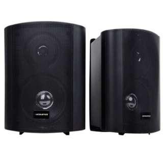 Set of 2 Waterproof Speakers 2.5 inchDome Tweeter  Black