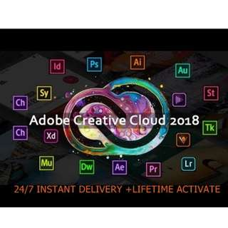Adobe CC 2018 WIndows/Mac 100% Lifetime Activation