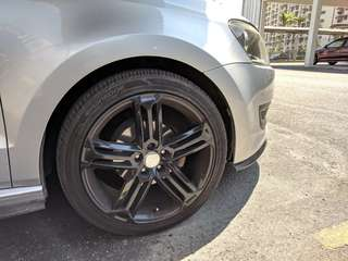 "Talladega design 17"" rims for swap"