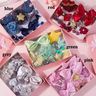 (10pieces)Hair Clips Set wth Box