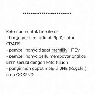Terms for Free Items❤️