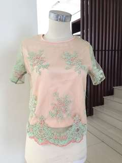 Lace top beli 2 only 175rb