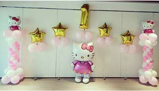 Hello kitty birthday balloon deco