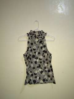 FOREVER 21 B/W Polka Dot Sleeveless