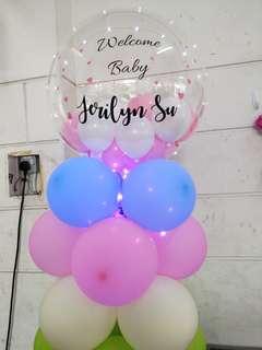 Custom balloon column birthday deco