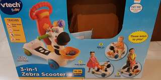 Vtech baby 3 in 1 zebra scooter