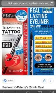 K-Palette 1 Day Tattoo Real Lasting Eyeliner (Super Black)