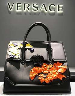 Versace Palazzo Empire Bag With Flower ( Medium ) 💯