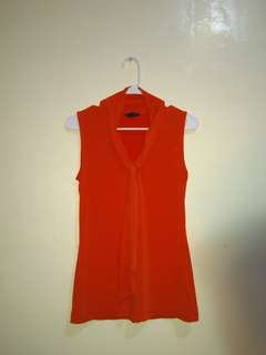 BANANA REPUBLIC Red orange sleeveless