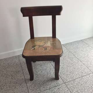 Vintage Wooden Chair Stool