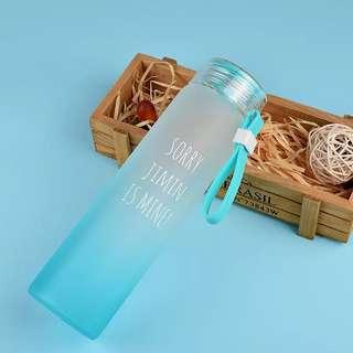 BTS GLASS WATER BOTTLE