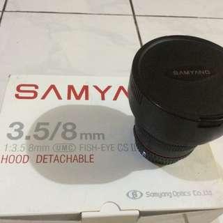 Lensa Samyang Fisheye 3.5/8mm For Nikon