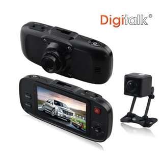 "Dual Camera In-Car Digital Video Recorder DVR 2.7"" Colour Display Screen LCD"