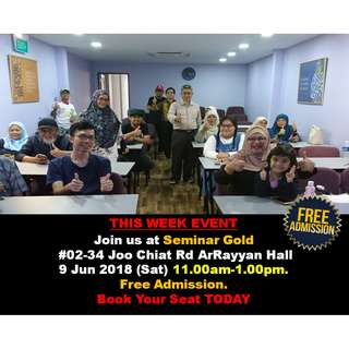 #Blessing Join us at Seminar Gold Dinar