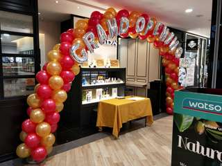 Retail store Grand opening arc balloon arc