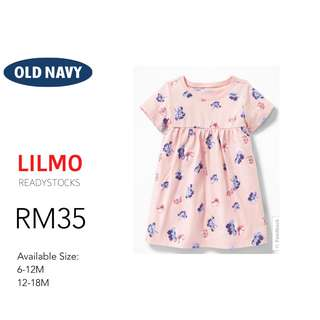 Empire-Waist Jersey Dress for Baby
