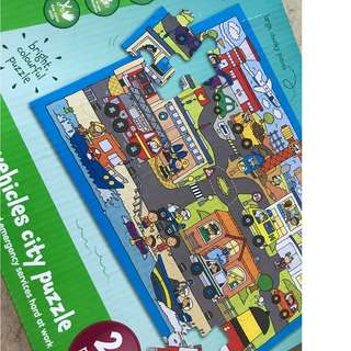 Emergency vehicles city puzzle