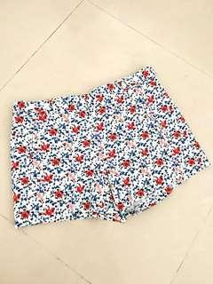 ZARA Floral Shorts