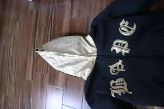 (REPRICE) Bape Shark Hoodie Fullzip Black and Gold murah