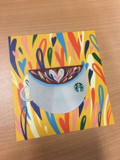 Starbucks cards - cup shaped