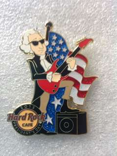 Hard Rock Cafe Pins - ONLINE HOT & RARE 2015 PRESIDENT'S DAY (GEORGE WASHINGTON) ROCKIN' OUT PIN!
