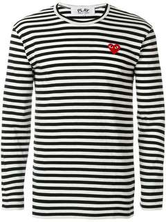 CDG Play Long Sleeve Striped Shirt