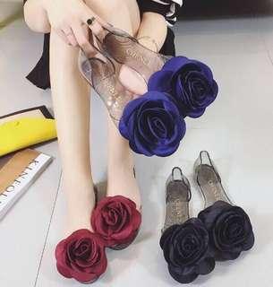 Rose Flower Jelly Sandals PRE Order