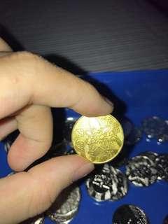 🚚 來買 這邊 全部給你 古董神奇寶貝銀幣