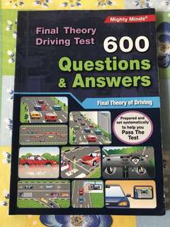 Final Theory Book (Questions & Answers) Driving Highway Code