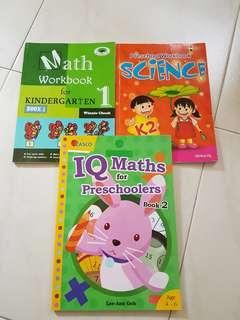 ⛤3 BN Pre-schooler Maths & Science books