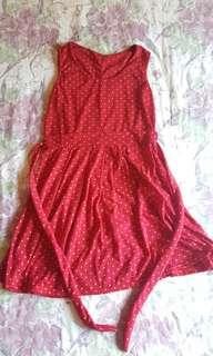 Stars print red dress