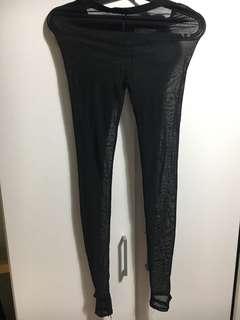 全黑半透明🎹腳褲