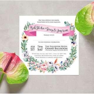 Personalized Wedding Invite Cards Design / Print